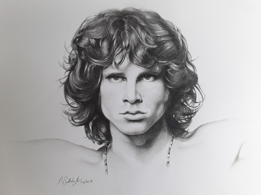 Jim Morrison by Sazz